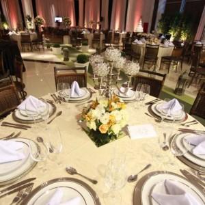 Mesa de jantar de casamento